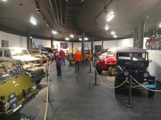 In het motormuseum Obergurgl
