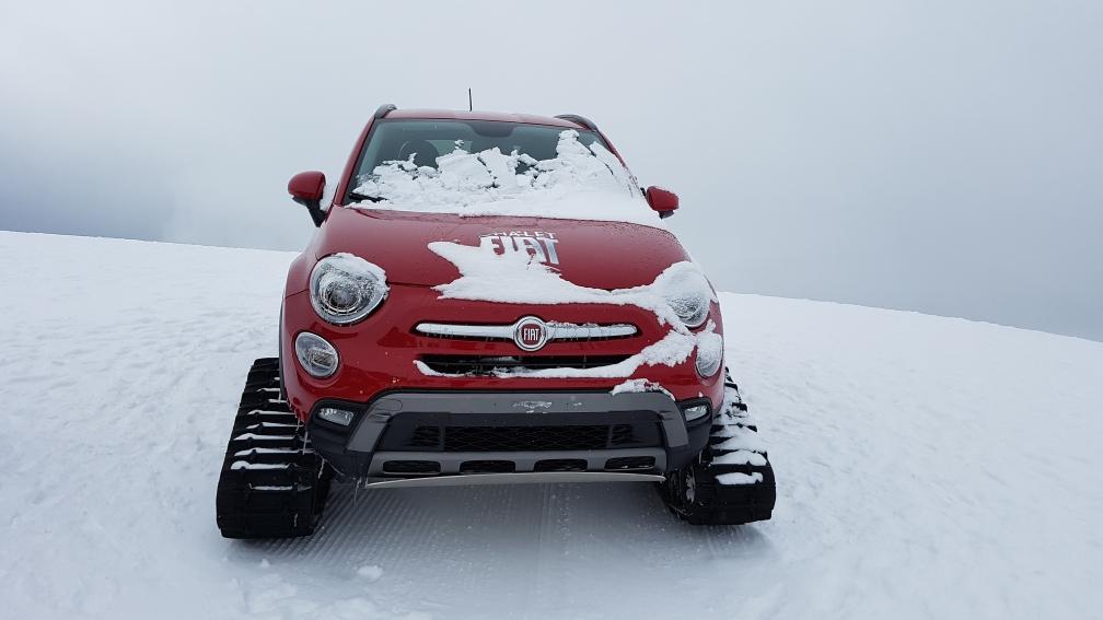 Fiat uitgerust voor de sneeuw