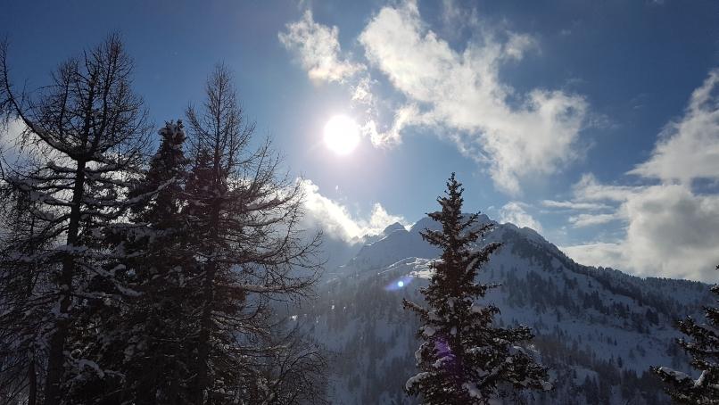 622 - Marilleva, laag staande zon